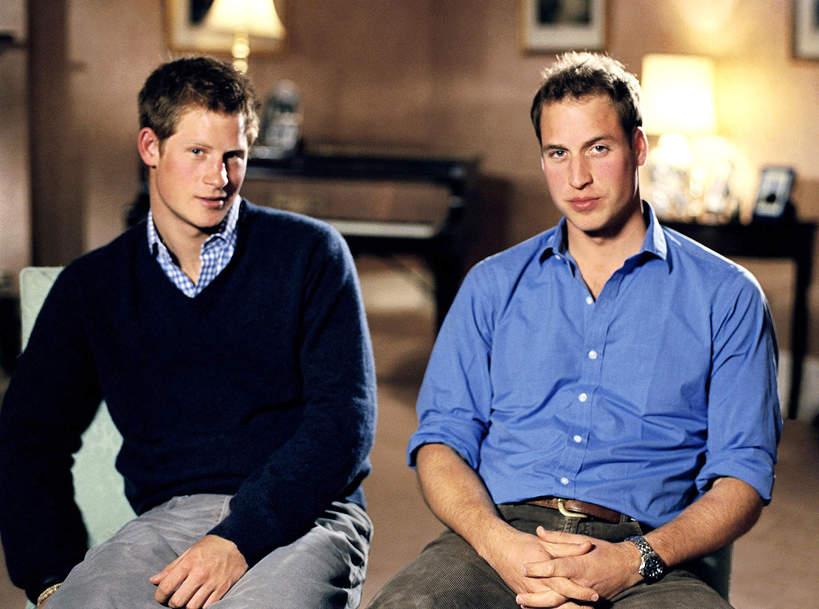 Harry i William w młodości