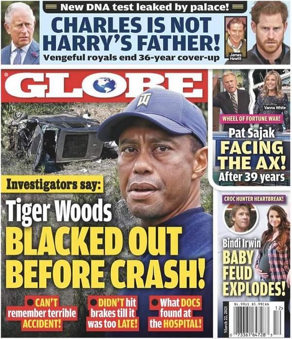 Harry nie jest dzieckiem Karola? Okładka The Globe
