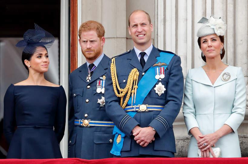 Harry, William, Meghan, Kate razem