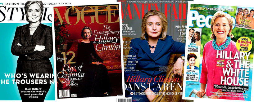 Hillary Clinton na okładkach gazet: Vogue, Vanity Fair, Stylist i People