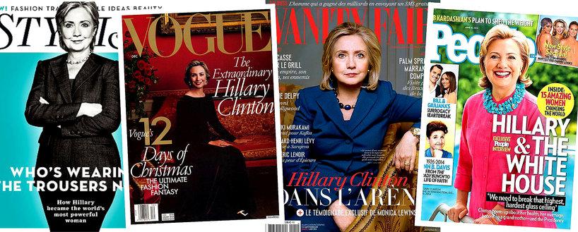 Hillary Clinton na okładkach gazet: Vogue, Vanity Fair, Stylist i People