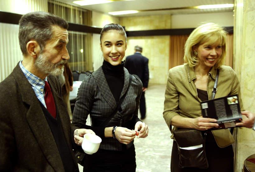 Ida Nowakowska z tatą i mamą, Marek Nowakowski
