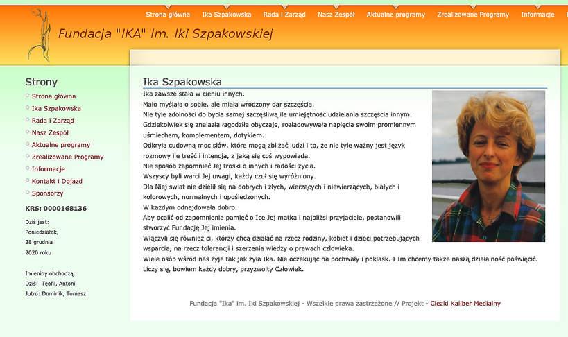 Ika Szpakowska, Fundacja Ireny Falskiej