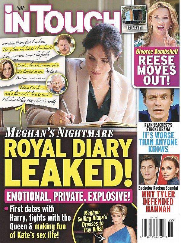 In Touch Meghan Markle pamiętnik