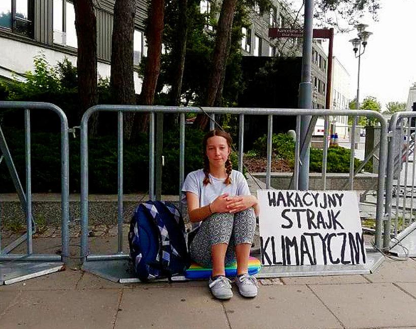 Inga Zasowska, protest pod Sejmem