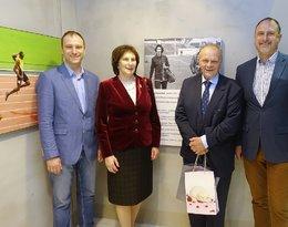 Irena Szewińska z mężem i synami, Janusz Szewiński, Sławomir Szewiński, Jarosław Szewiński, Andrzej Szewiński