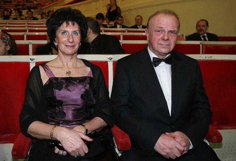 Irena Szewińska z mężem, Janusz Szewiński, Sławomir Szewiński