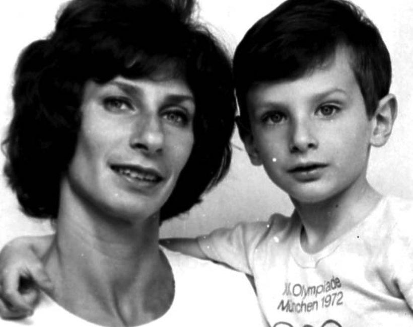 Irena Szewińska z synem