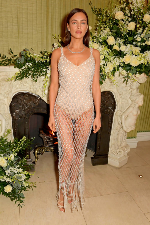 Irina Shayk, afterparty BAFTA 2020, Vogue x Tiffany Fashion & Film