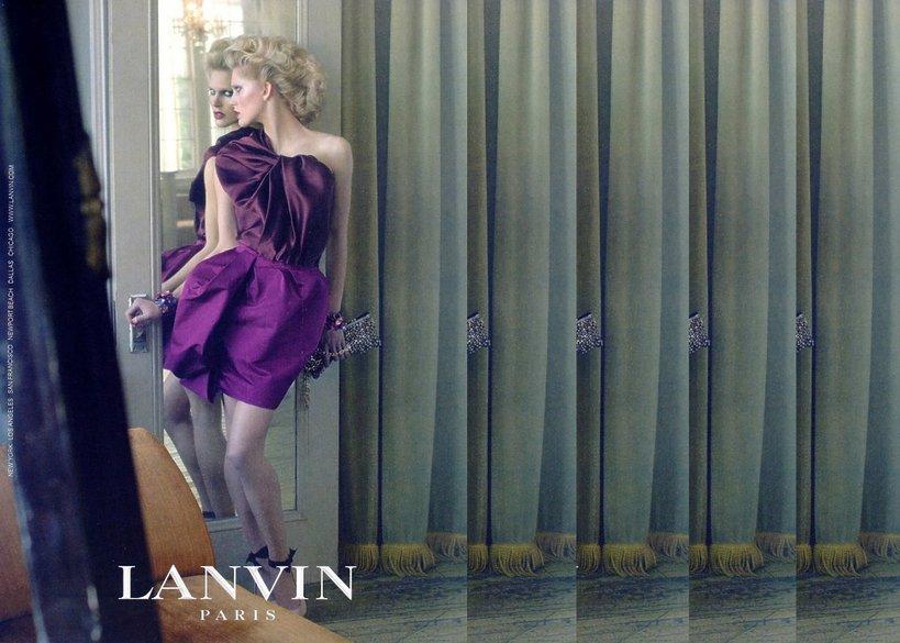 Iselin Steiro w reklamie Lanvin wiosna-lato 2009