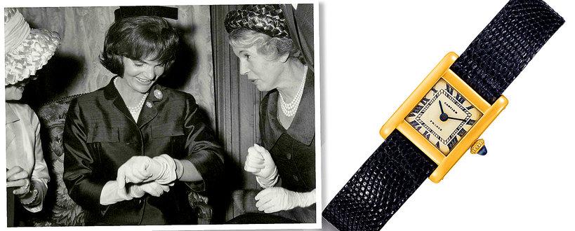 Jackie Kennedy zegarek od Cartiera