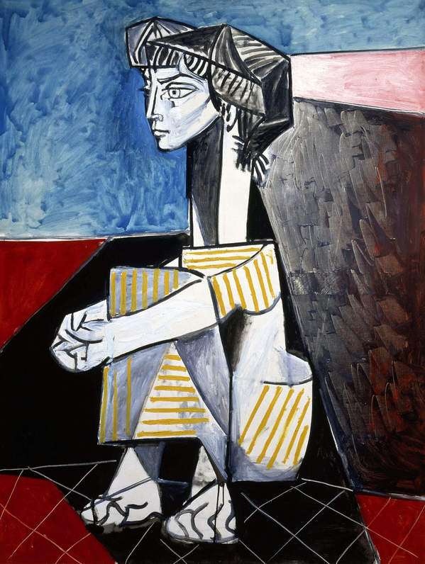 Jacqueline Kneeling, 1954 reprodukcja Picasso