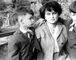 Jadwiga Kaczyńska z synami Lechem i Jarosławem