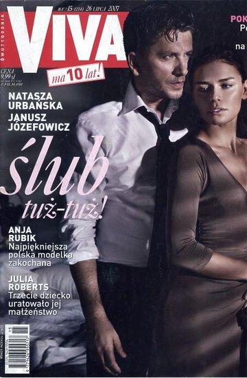 Janusz Józefowicz i Natasza Urbańska na okładce magazynu Viva!