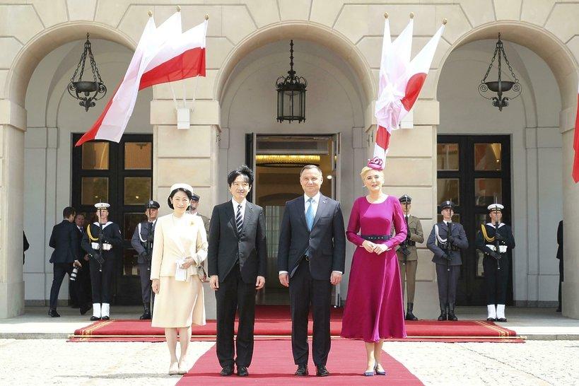 Japońska para książęca, książę Akishino, księżna Kiko, Andrzej Duda, Agata Duda