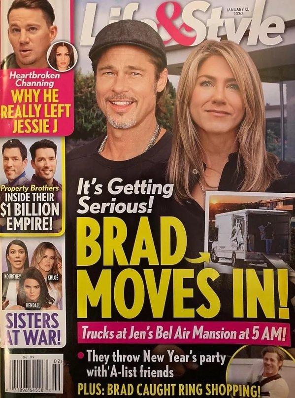 Jennifer Aniston, Brad Pitt, okładka Life&Style
