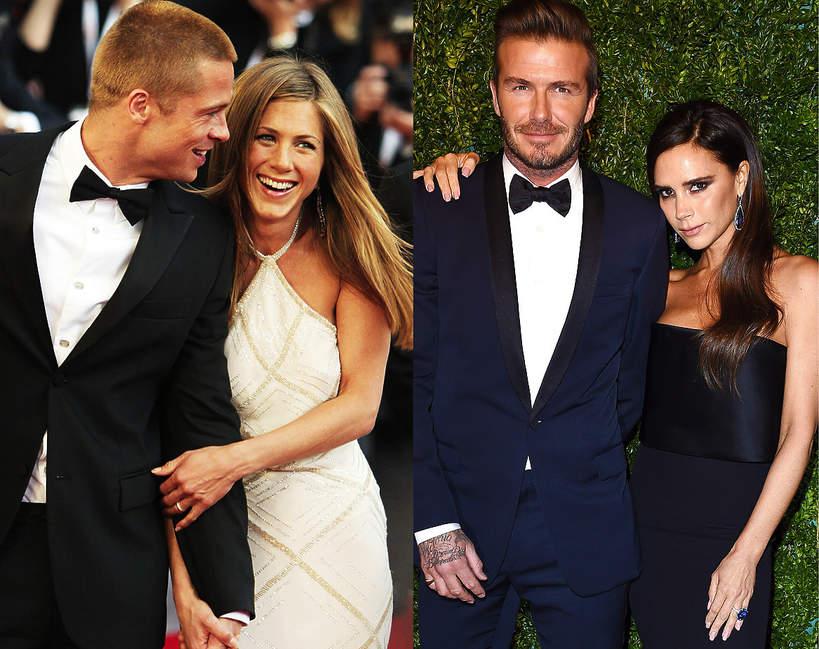 Jennifer Aniston, Brad Pitt, Victoria Beckham, David Beckham