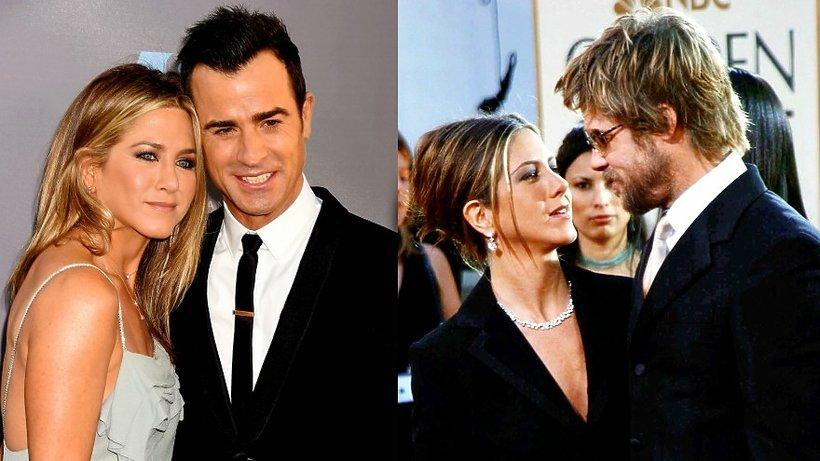 Jennifer Aniston i Justin Theroux, Jennifer Aniston i Brad Pitt