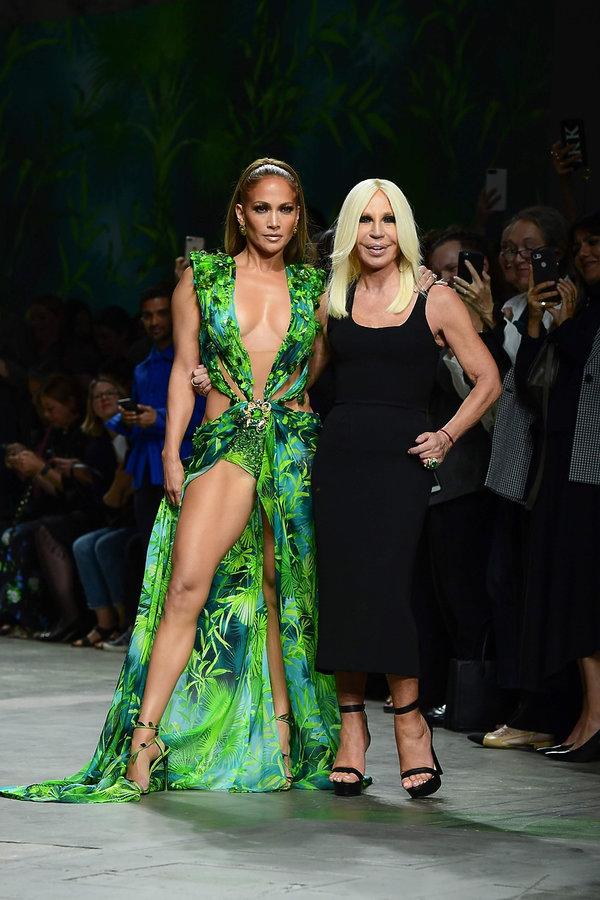 Jennifer Lopez, Donatella Versace, 2019