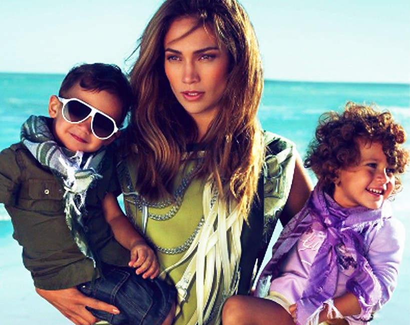 Jennifer Lopez z dziećmi, kampania Gucci 2010