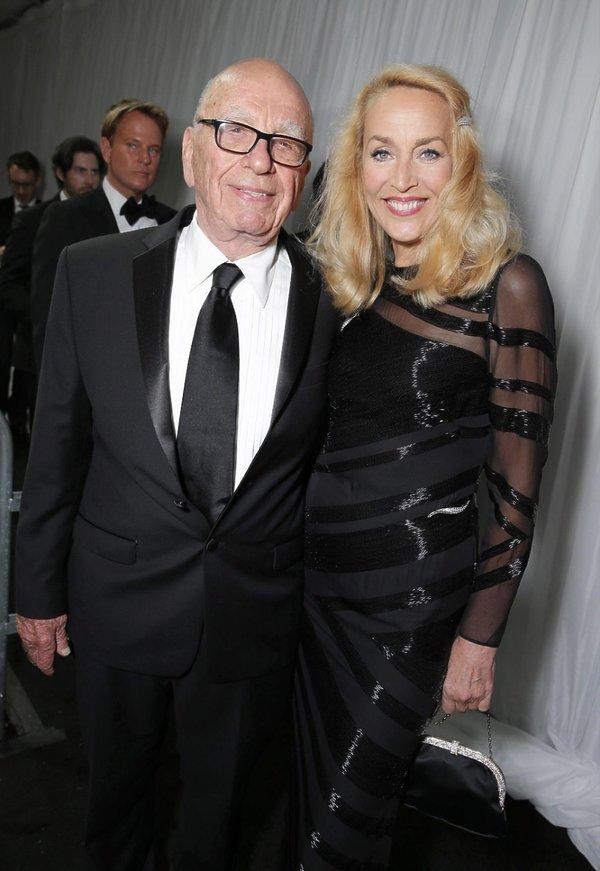 Jerry Hall i Rupert Murdoch, Złote Globy, Los Angeles, 16 stycznia 2016