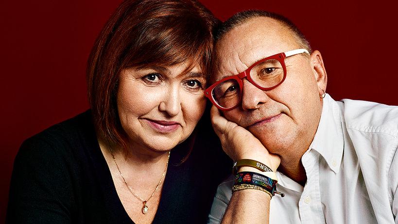 Jerzy Owsiak z żoną Lidią