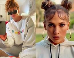 Jennifer Lopez w stylizacji z sieciówki i sneakersach Nike. Ten look to hit Instagrama!