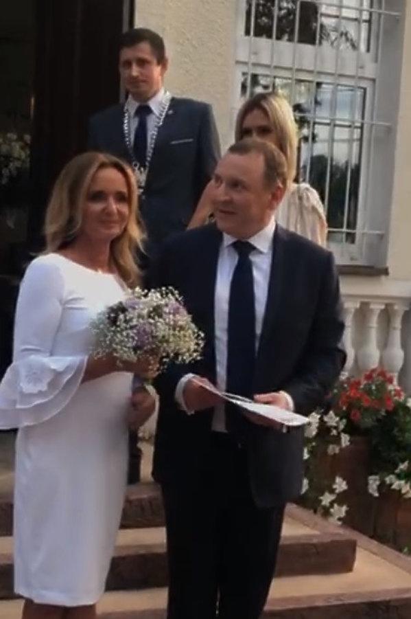 Joanna Klimek, Jacek Kurski ślub