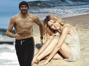 Joanna Koroniewska i Maciej Dowbor na plaży