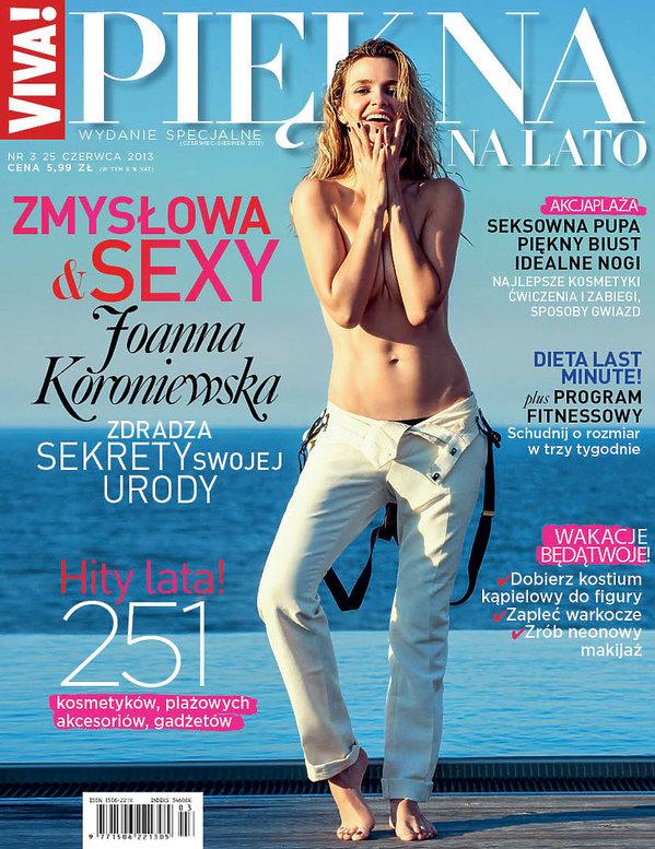 Joanna Koroniewska na okładce Viva! Piękna na Lato, czerwiec 2013