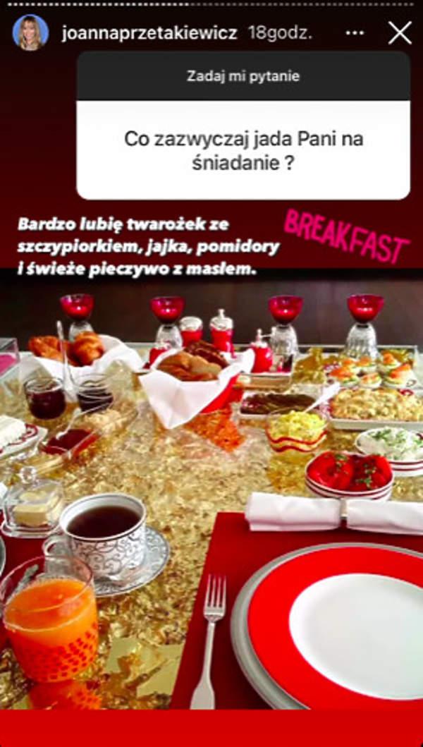 Joanna Przetakiewicz sniadanie