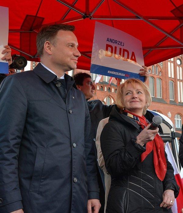 Jolanta Szczypińska z prezydentem Andrzejem Dudą
