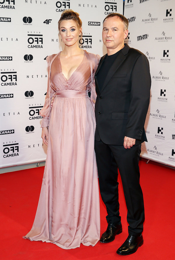 Julia Kamińska z partnerem, Piotr Jasek, partner Julii Kamińskiej