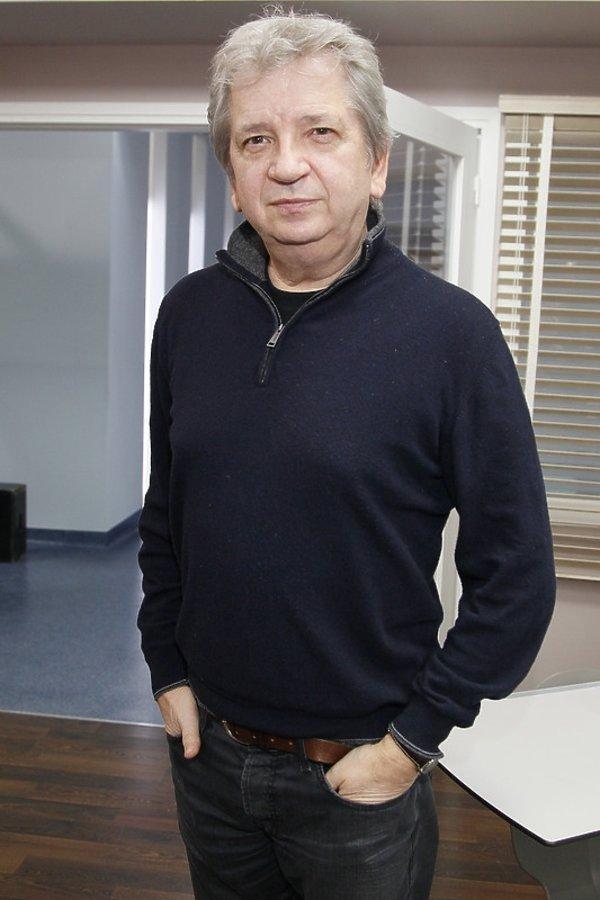 Juliusz Machulski na planie Teatru Telewizji