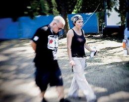 """Jurek Owsiak z córką Olą, """"Viva!"""" sierpień 2009"""