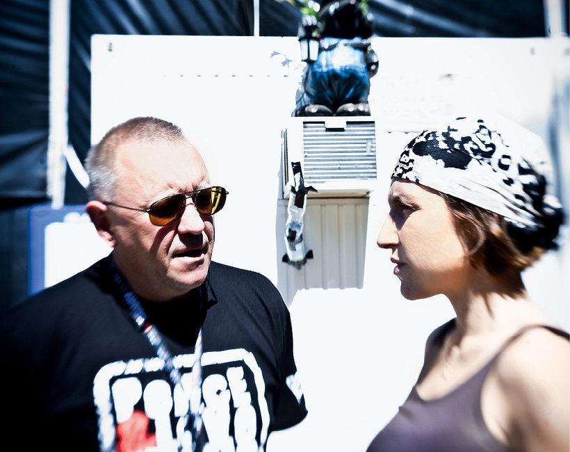 Jurek Owsiak z córką Olą, VIVA! sierpień 2009
