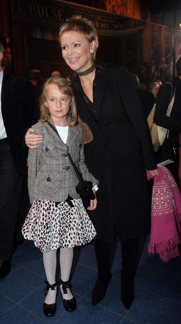 Justyna Pochanke z córką, Zuzanna Ryncarz, 2005 rok
