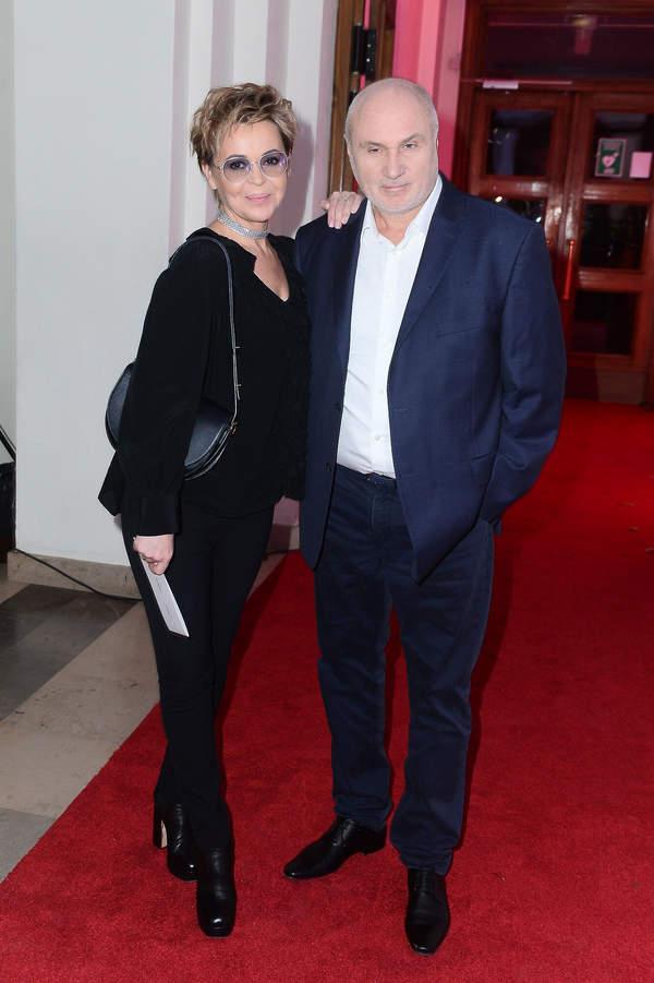 Justyna Pochanke z mężem Adamem Pieczyńskim