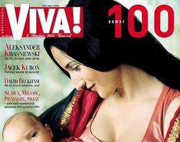 """Justyna Steczkowska z synem, Leonem, """"Viva!"""" grudzień 2000"""