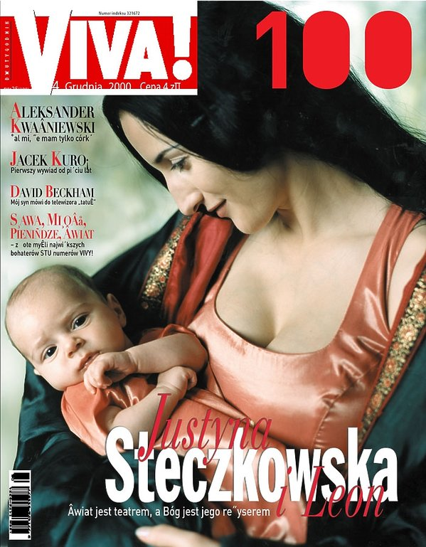 Justyna Steczkowska z synem na okładce