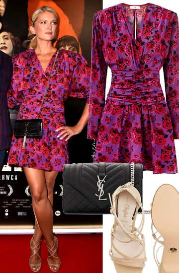 Justyna Szyc-Nagłowska stylizacja 2021 różowa sukienka