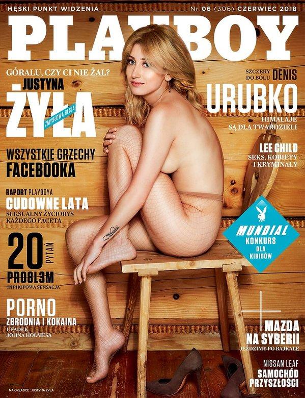 Justyna Żyła na okładce Playboya