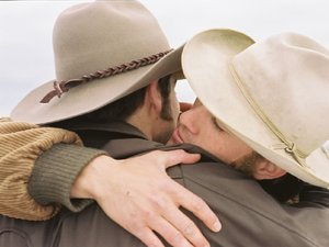 kadr z filmu Tajemnica Brokeback Mountain. Monolith Video