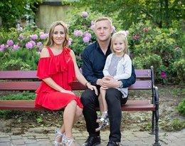 Kamil Glik z żoną i córką