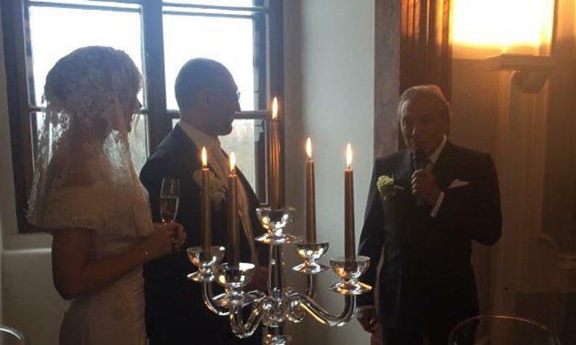 Karel Gott na ślubie Haliny Mlynkovej