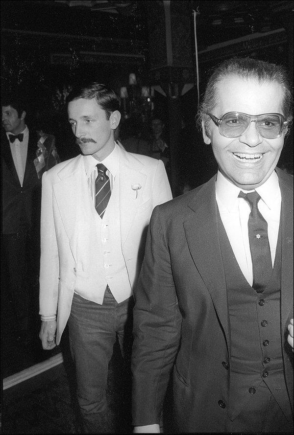 Karl Lagerfeld i Jacques de Bascher
