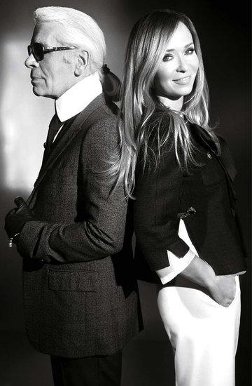 Karl Lagerfeld, Joanna Przetakiewicz, Viva! marzec 2011
