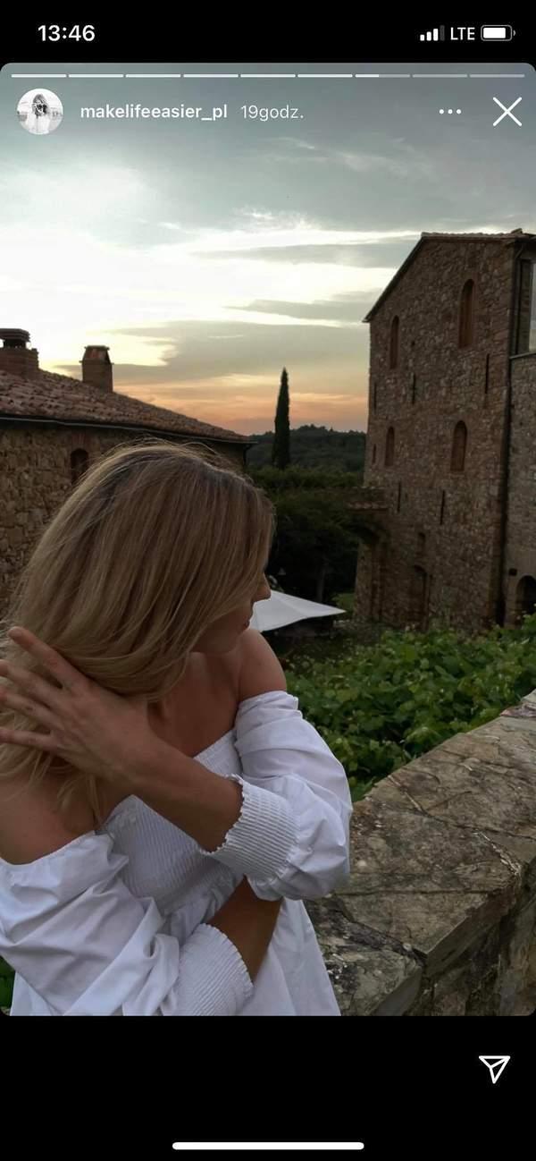 Kasia Tusk, Toskania, wakacje