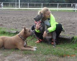 Katarzyna Bujakiewicz i jej pies