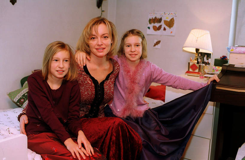 Katarzyna Chrzanowska z córkami, 2002